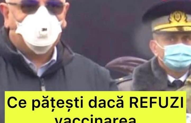 Au făcut anunțul oficial! Ce se va întâmpla cu românii care refuză vaccinarea