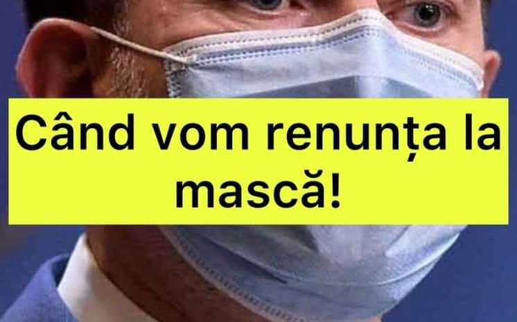 Când vom renunța la purtatul măștii! Florin Cîțu a făcut anunțul așteptat de toți românii
