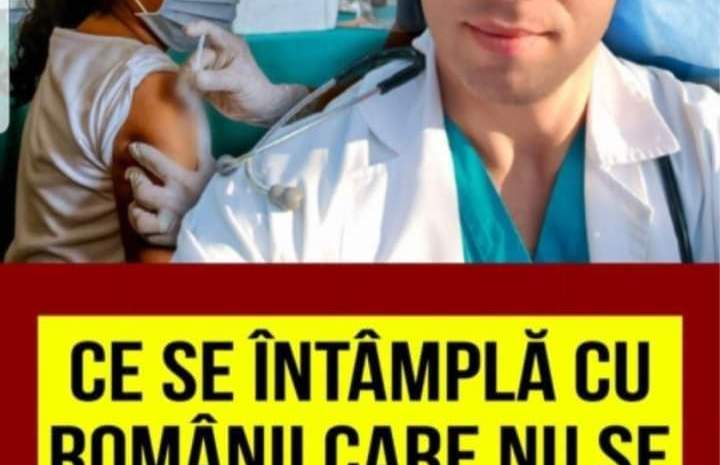 Ce se intampla cu romanii care nu vor sa se vaccineze