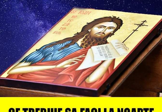 Tăierea capului Sfântului Ioan Botezătorul – zi de post