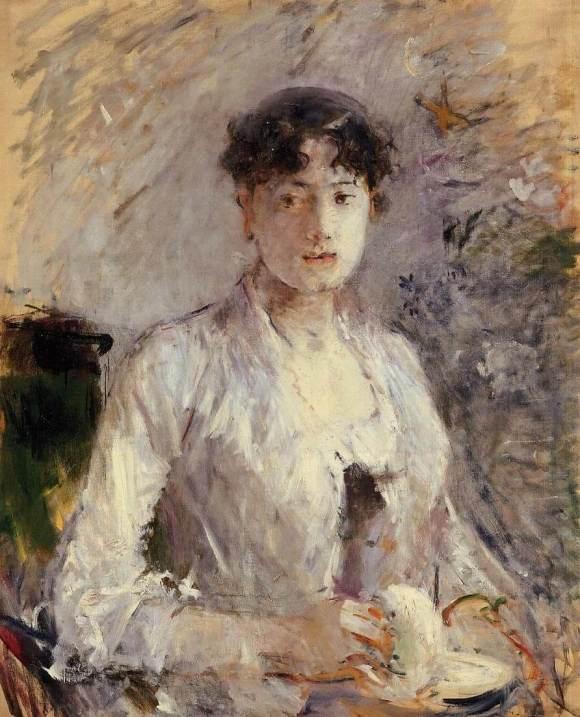 """""""Femeie tânără în mov"""" de Berthe Morisot"""