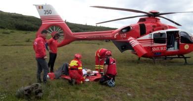 Elicopter SMURD pe Ceahlau