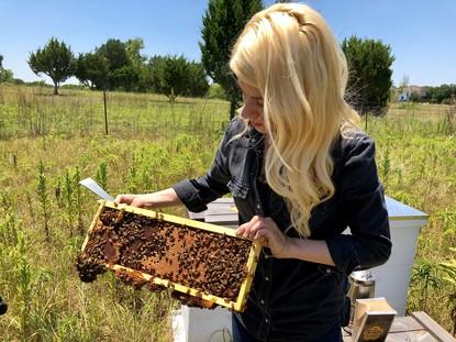 O tânără din Texas salvează roiuri întregi de albine cu mâinile goale