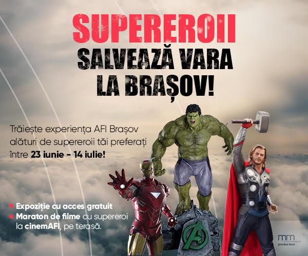 Maraton de filme cu supereroi la cinemAFI, pe terasă, cu acces gratuit