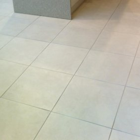 Textured Ceramic Tiled Shop Floor After Deep Cleaning Stirling