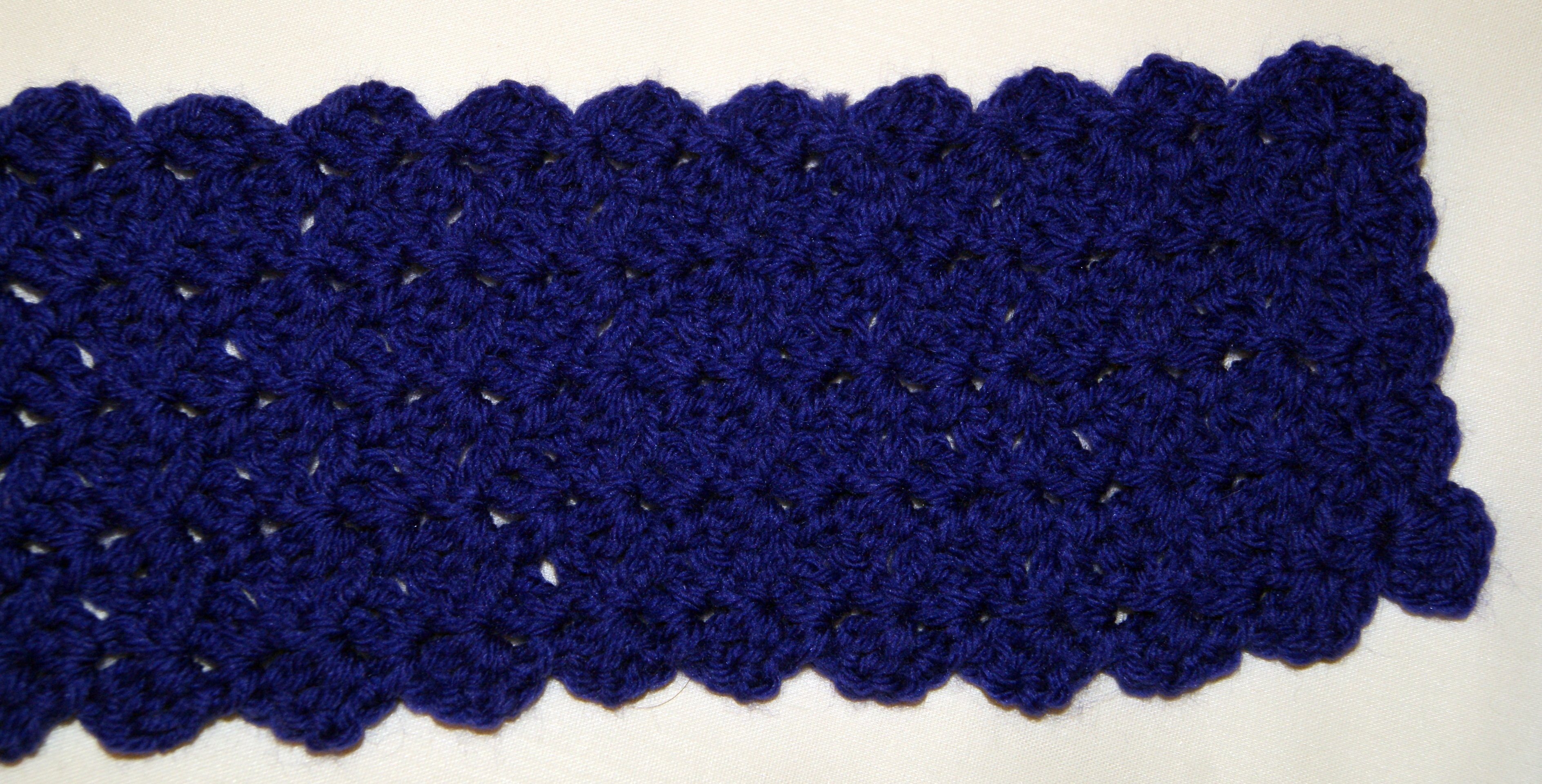Simple Crochet Scalloped Edge Scarf Stitch4ever