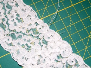 Lace ready to be gathered