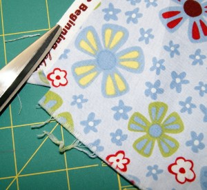 Make a small cut before you rip fabric.