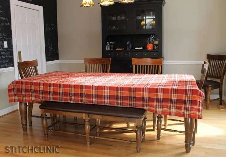 Table Cloth to Table Runner Project