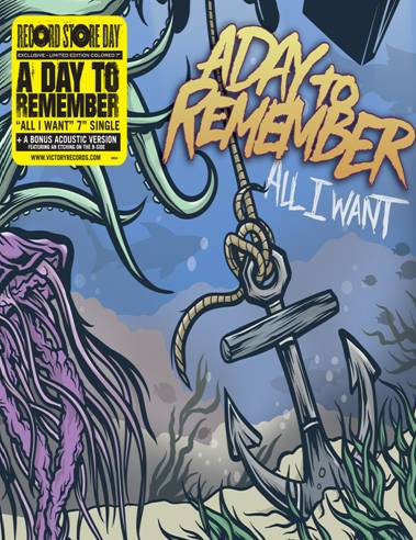 """A DAY TO REMEMBER """"ALL I WANT"""" ON VINYL AND PERFORMANCE ON FUSE TV"""