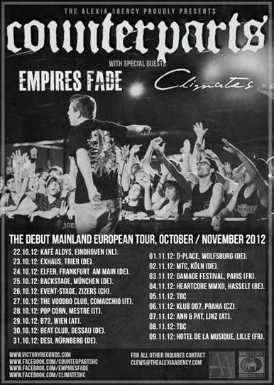 Counterparts announce European tour