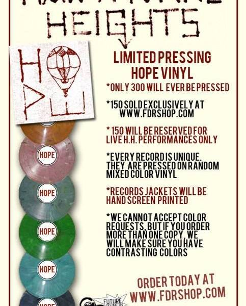 Hawthorne Heights to release limited pressings of Hope EP