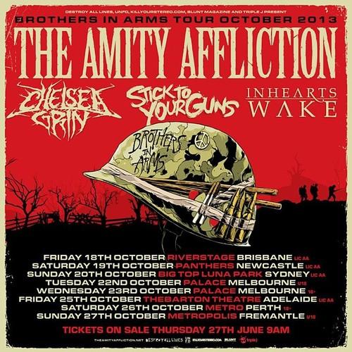 The Amity Affliction Announce Australian Tour