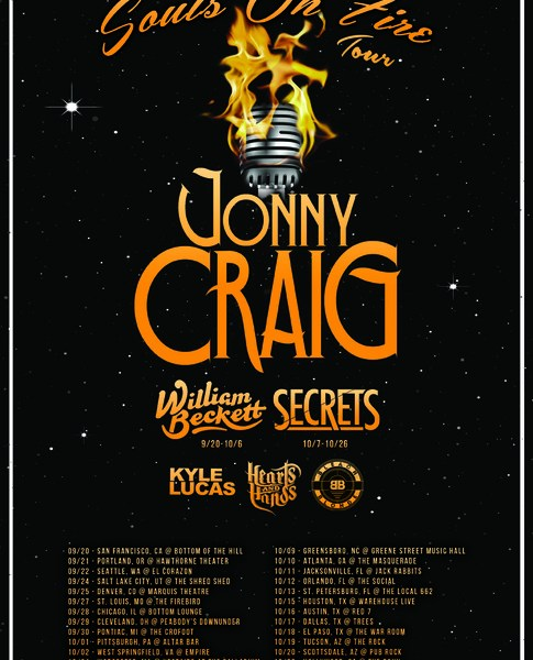Jonny Craig Announce New Tour