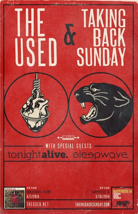 the used taking back sunday