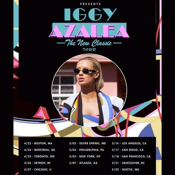 Iggy Azalea announce spring tour dates