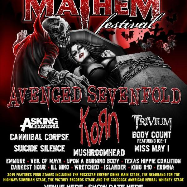 Rockstar Energy Drink Mayhem Festival line-up and tour dates announced