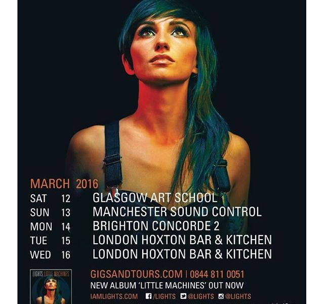 Lights Announces 2016 UK Tour