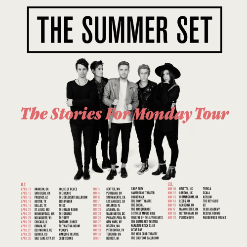 The Summer Set Announce Spring Tour