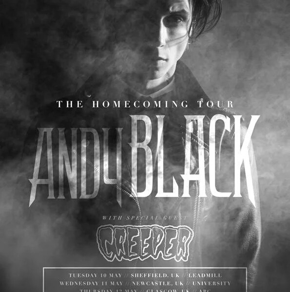 Andy Black + Creeper Announce UK Tour