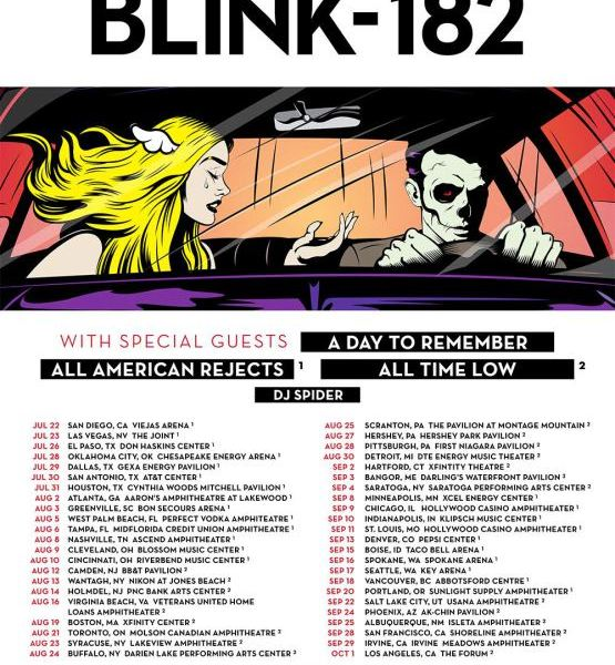Blink-182 announce tour with A Day To Remember, All Time Low and All-American Rejects