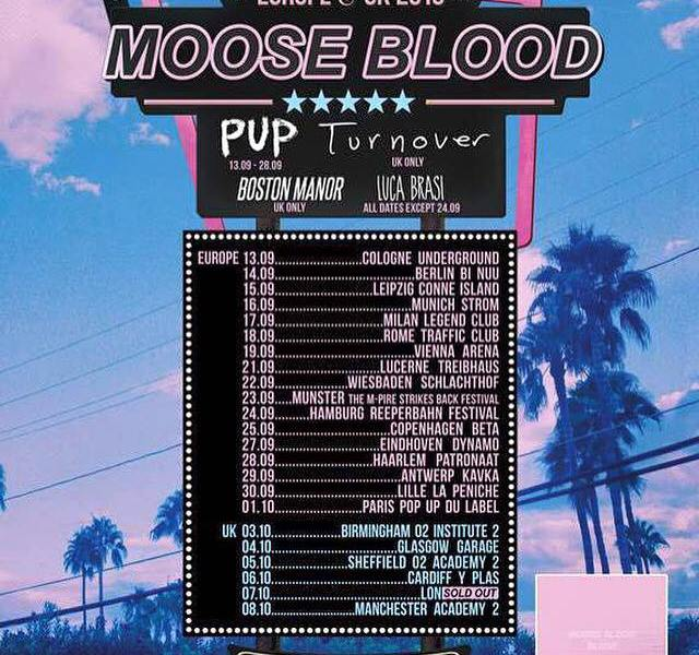 Support acts announced for Moose Blood fall European tour