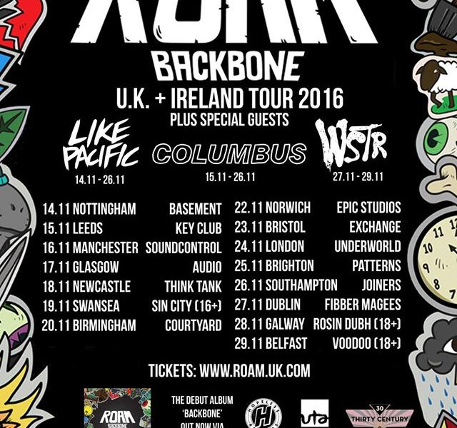 ROAM announce UK headlining tour