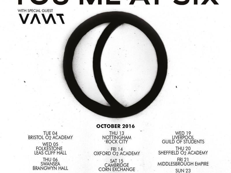 You Me At Six announce fall UK tour