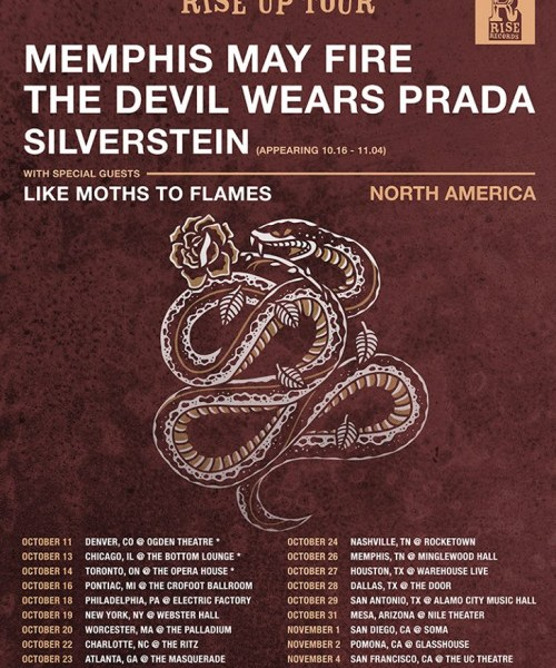 Memphis May Fire, The Devil Wears Prada, Silverstein announce North American tour