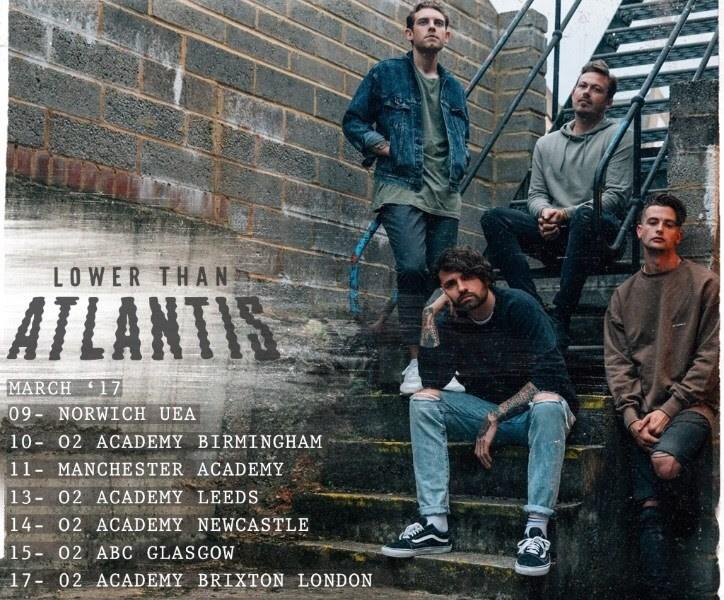 Lower Than Atlantis announce March 2017 UK tour