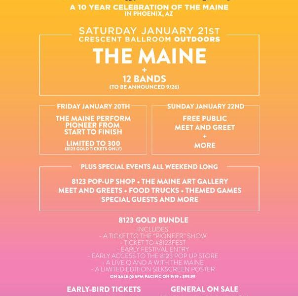 The Maine announce 8123 Fest