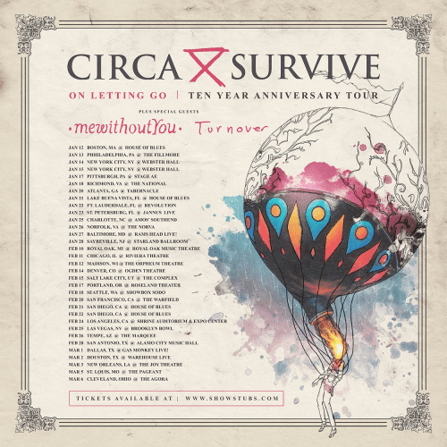 Circa Survive announce 'On Letting Go' 10-year anniversary tour