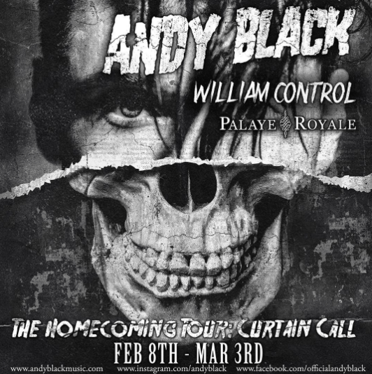Andy Black announces headlining tour