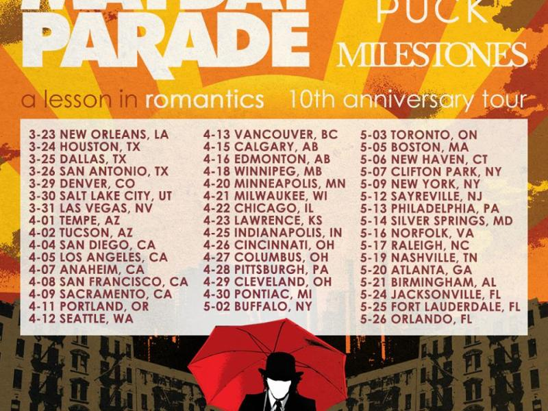 Mayday Parade announce 'A Lesson In Romantics' 10-year anniversary tour