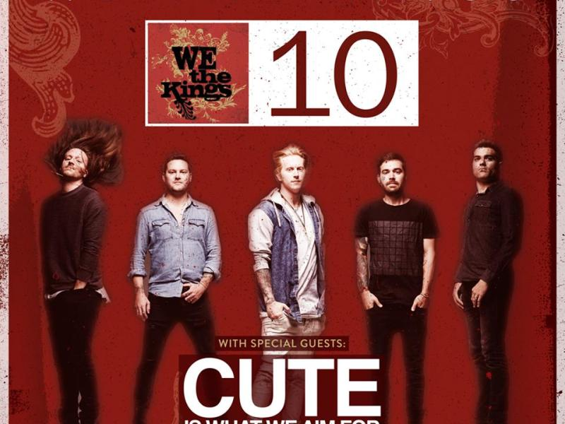 Cute Is What We Aim For added to We The Kings tour