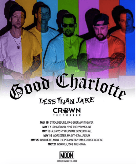 Good Charlotte announce tour dates with Less Than Jake and Crown The Empire