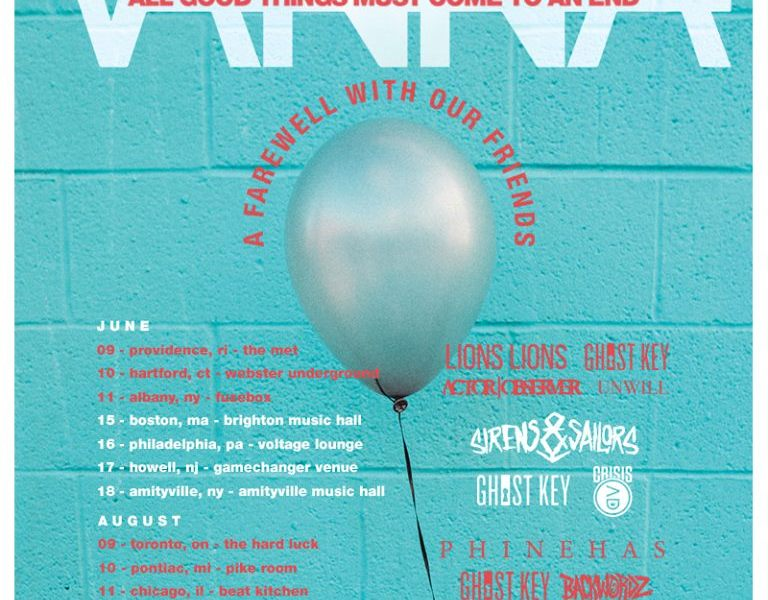 VANNA announce farewell tour