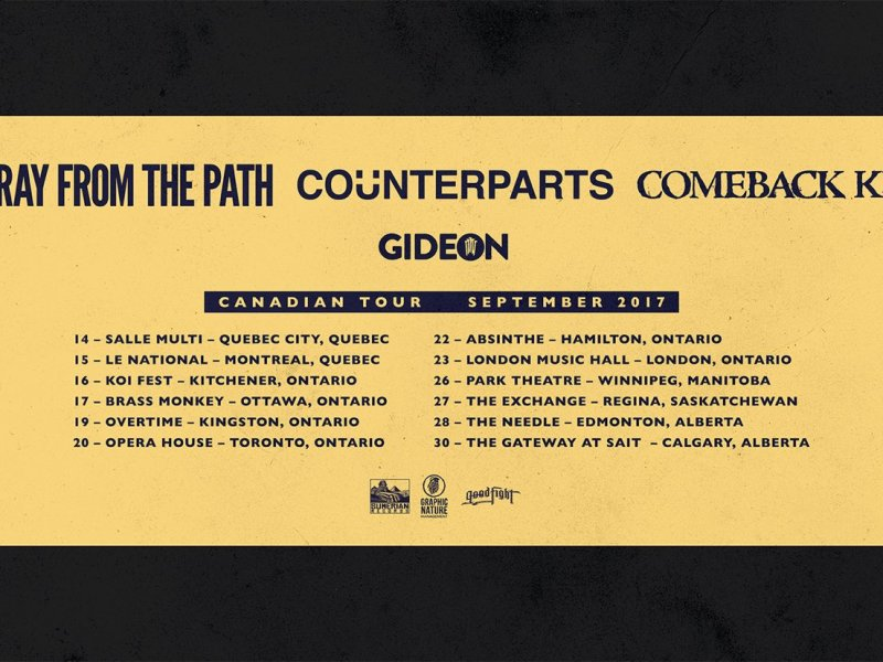 Counterparts Announces Co-Headlining Tour with Stray From The Path, Comeback Kid