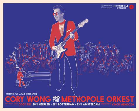 Cory Wong to perform 3 special shows with Metropole Orkest