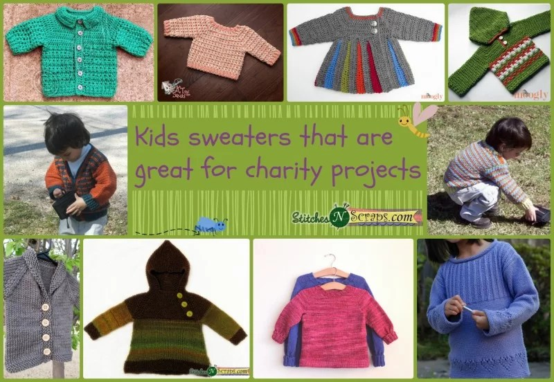 8f421bf6c ... free sweater patterns that I think would be great for charity. I have  tried to include knit and crochet patterns in varying baby and children s  sizes.