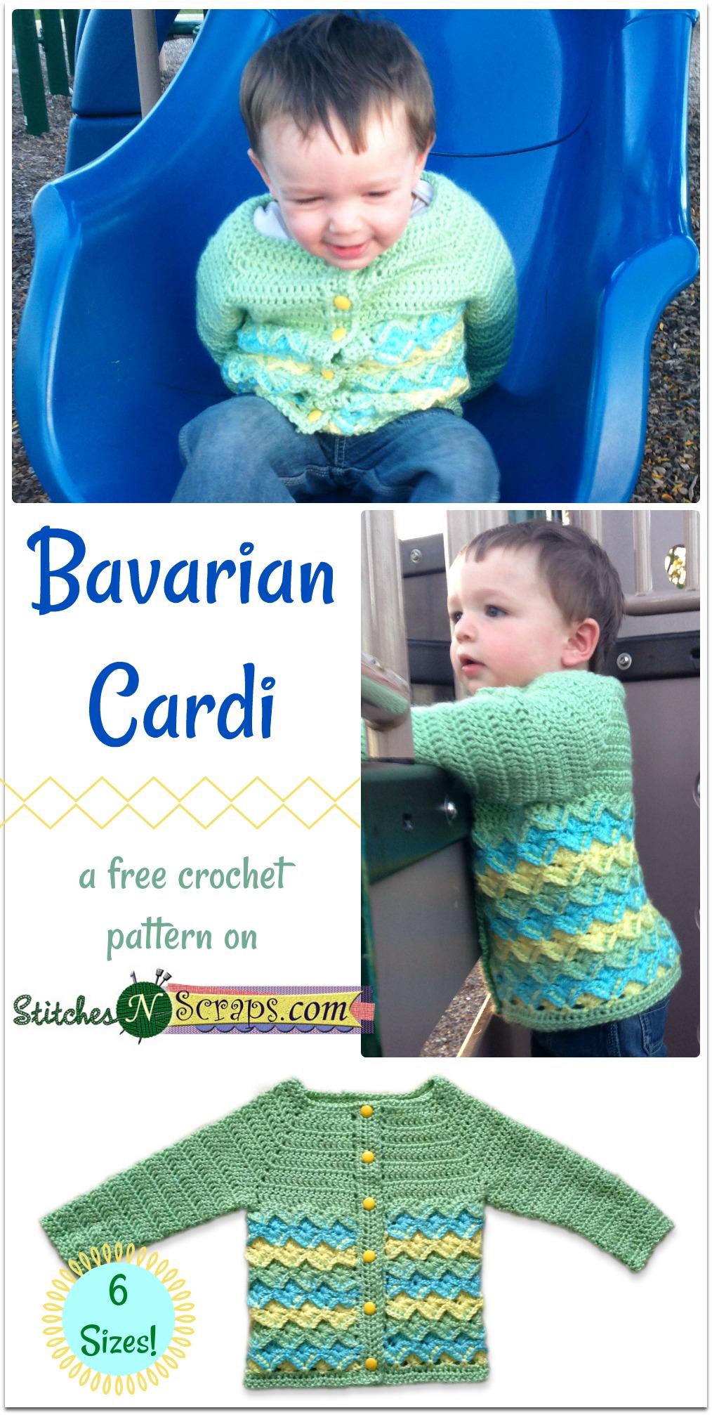d5a18135e Free Pattern - Bavarian Cardi - Stitches n Scraps