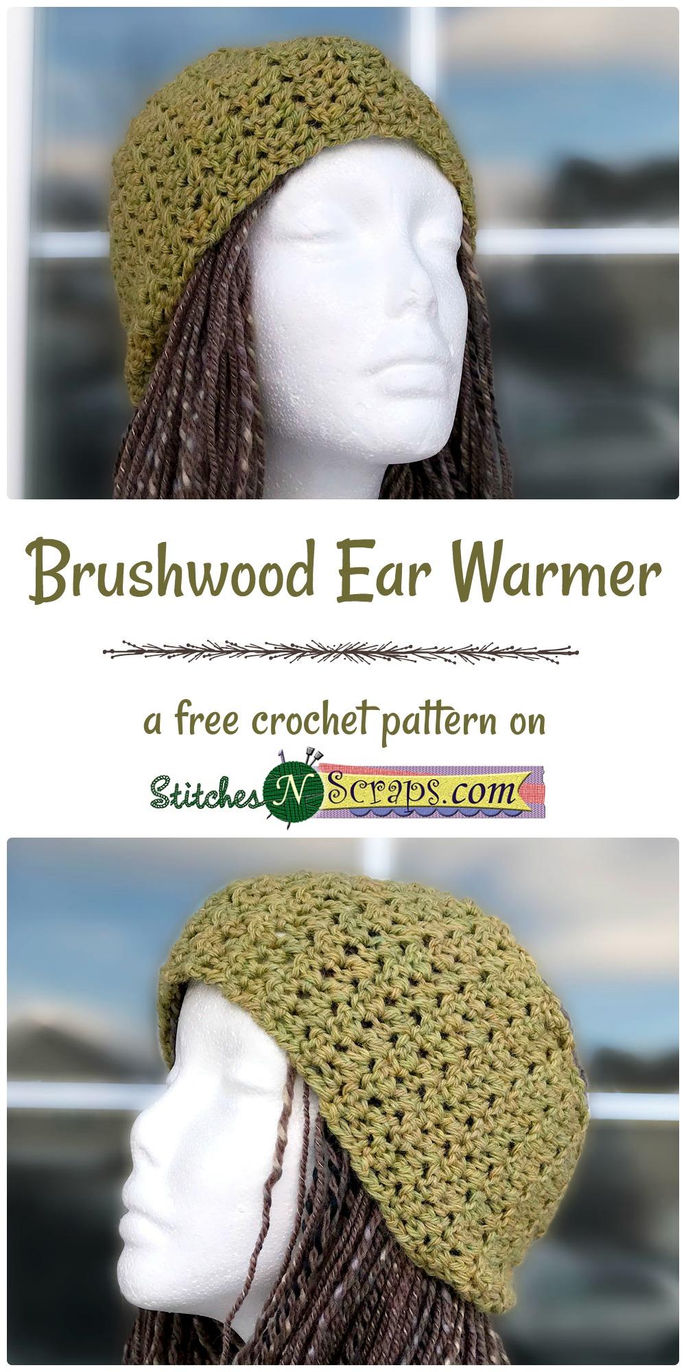 Free Pattern Brushwood Ear Warmer Stitches N Scraps