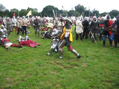 Fighting at Tewkesbury