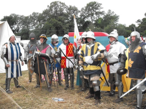 At muster before the battle