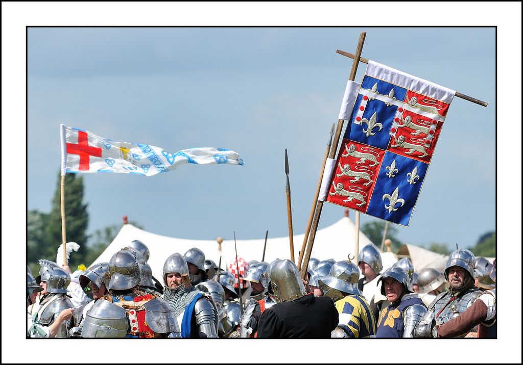 Lots of men in shiny armour!