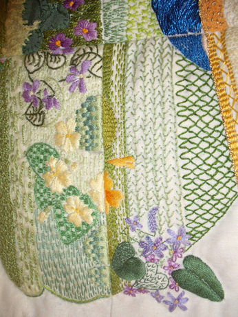 Stitching detail from the panel
