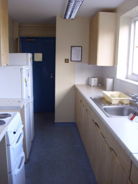 The hall of residence kitchen