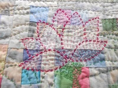Quilt Festival Rainbow flower 3