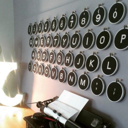 giant typewriter cross stitch kit image