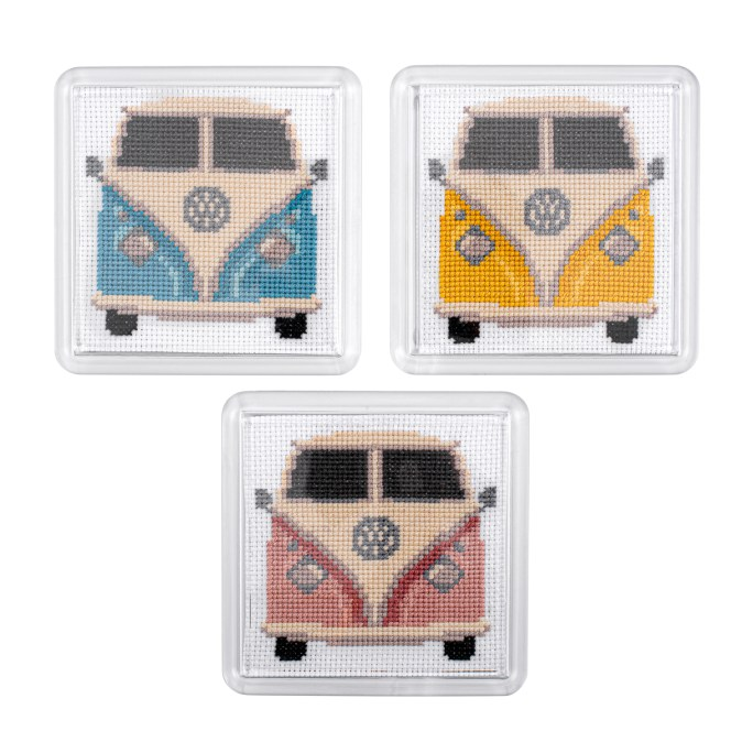 Campervans Cross Stitch Kit | STITCHFINITY